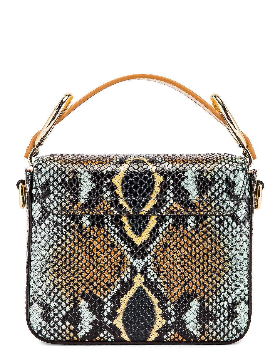 Image 3 of Chloe Mini C Embossed Python Box Bag in Faded Blue