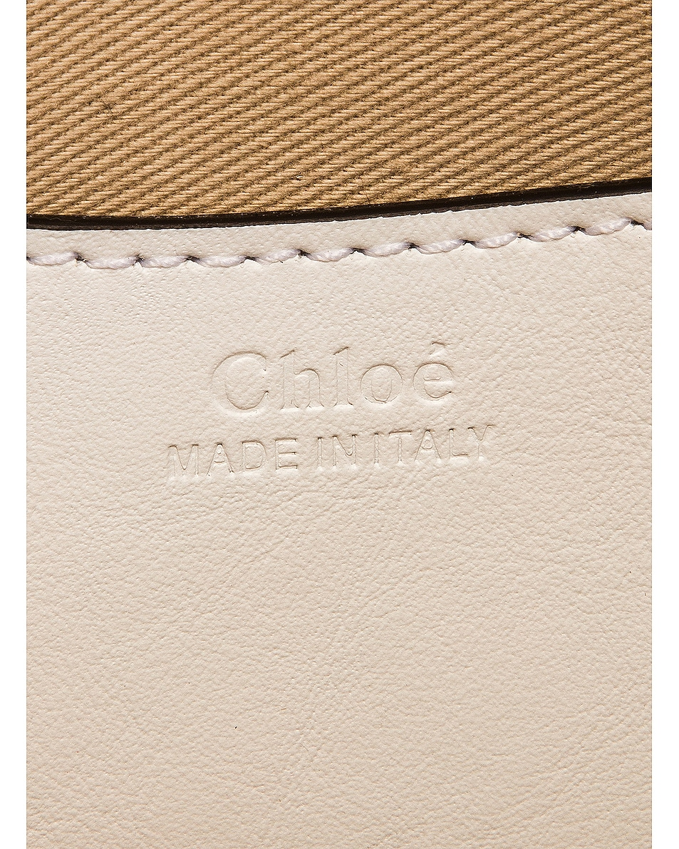 Image 7 of Chloe Small Tess Embossed Croc Shoulder Bag in Brilliant White