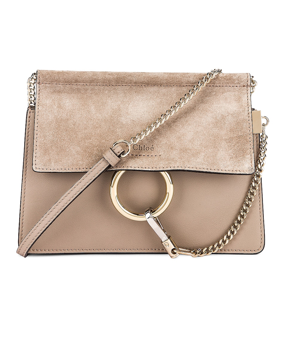 Image 1 of Chloe Mini Faye Shoulder Bag in Motty Grey