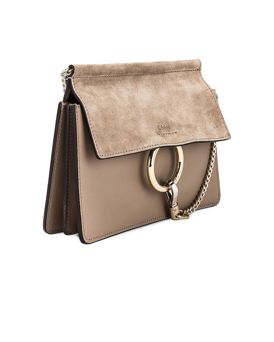 Image 4 of Chloe Mini Faye Shoulder Bag in Motty Grey