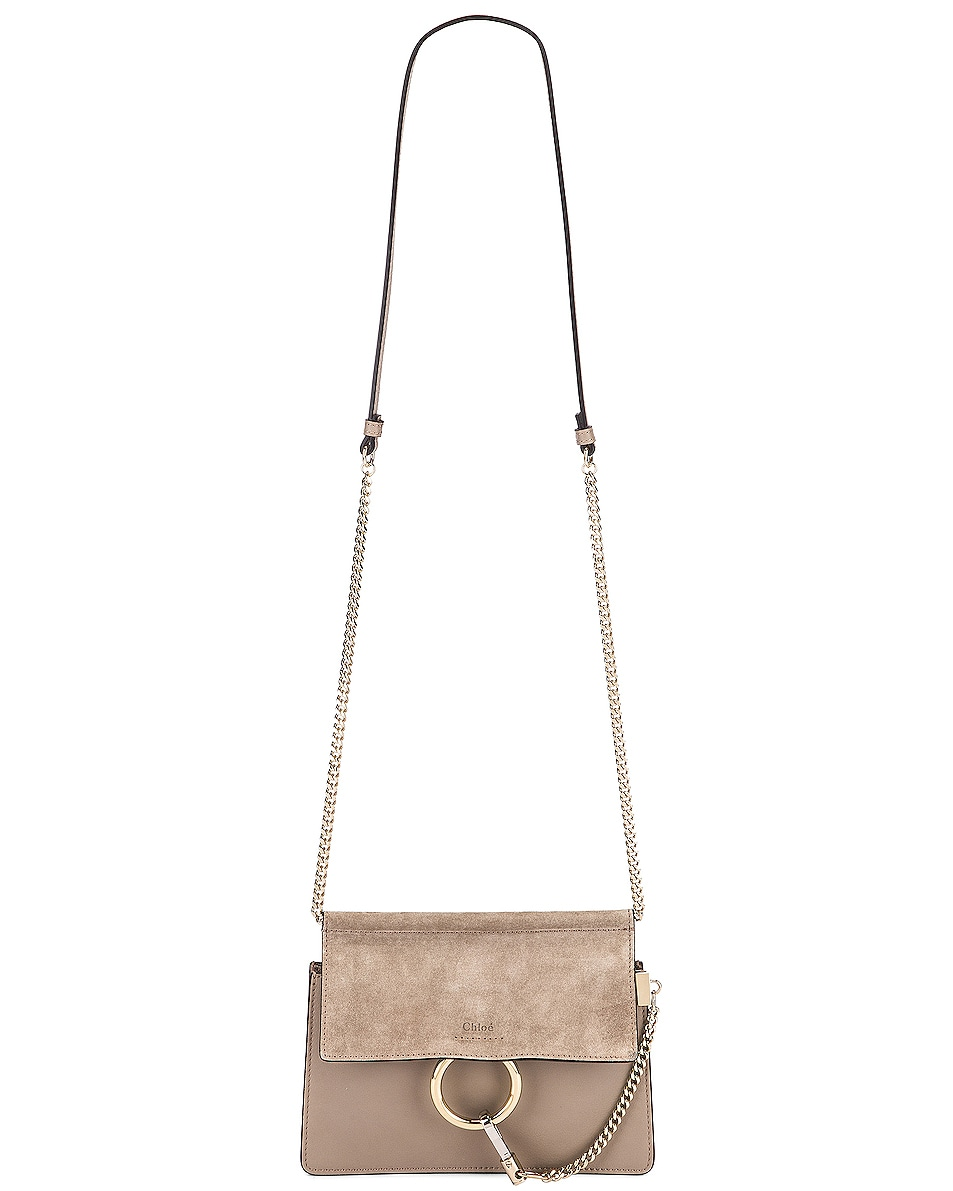Image 6 of Chloe Mini Faye Shoulder Bag in Motty Grey