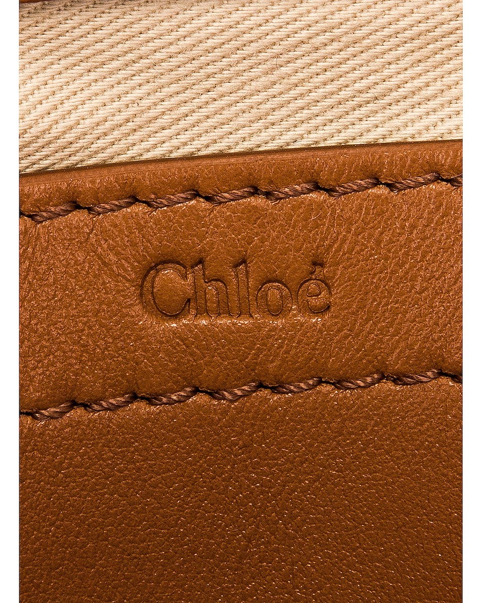 Image 7 of Chloe Mini Marcie Fringe Double Carry Bag in Tan