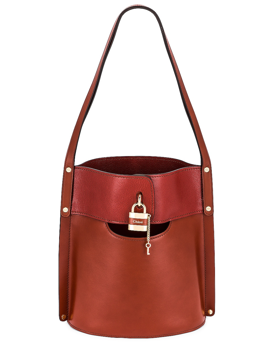 Image 1 of Chloe Aby Bucket Bag in Sepia Brown