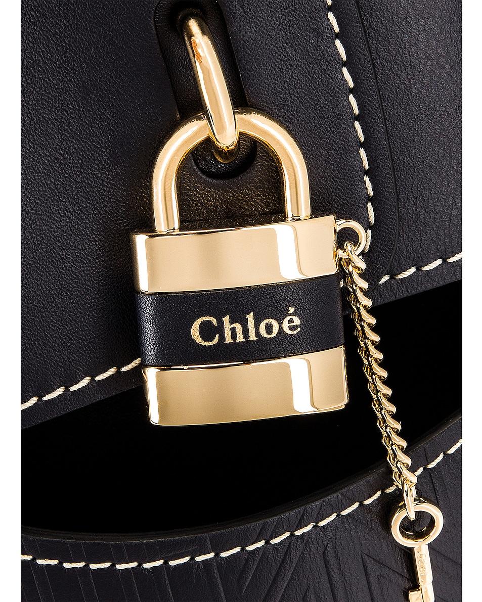 Image 7 of Chloe Aby Embossed Monogram Bucket Bag in Full Blue
