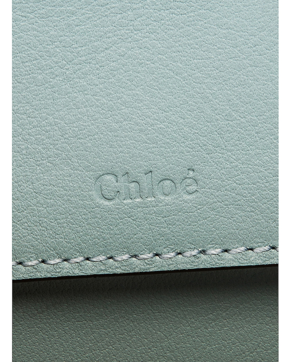 Image 7 of Chloe Mini C Embossed Croc Vanity Bag in Faded Blue