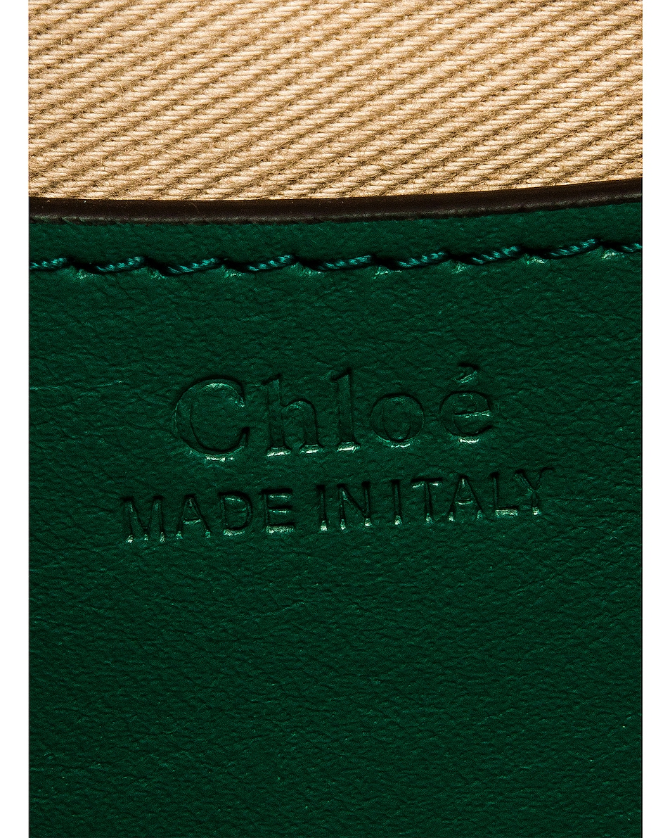 Image 7 of Chloe Small Tess Embossed Croc Shoulder Bag in Woodsy Green