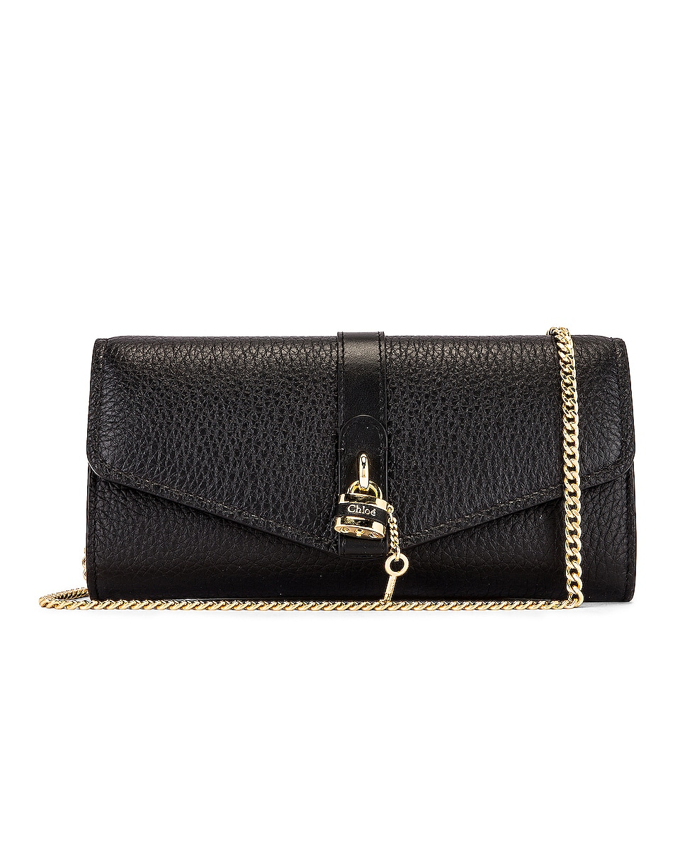 Image 1 of Chloe Aby Wallet on Chain Bag in Black