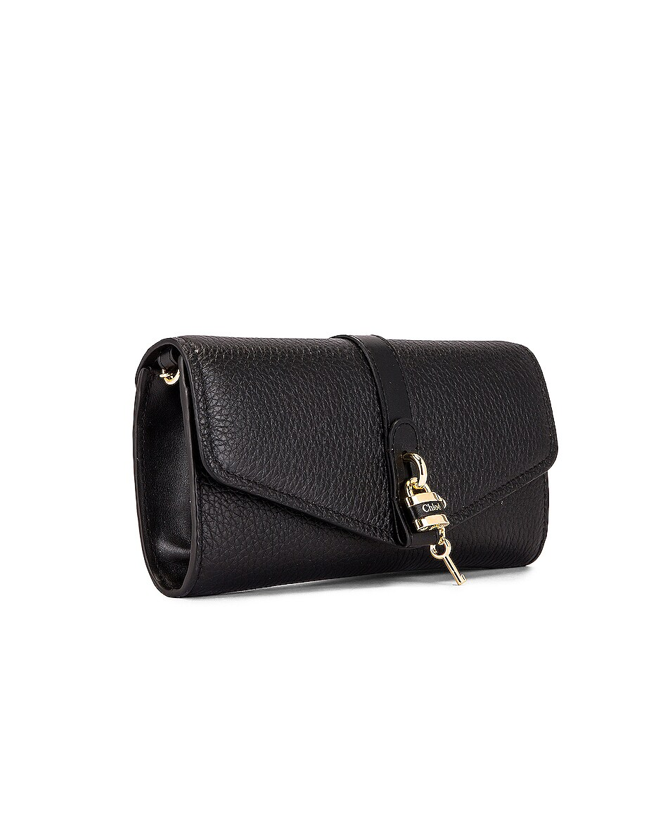 Image 4 of Chloe Aby Wallet on Chain Bag in Black