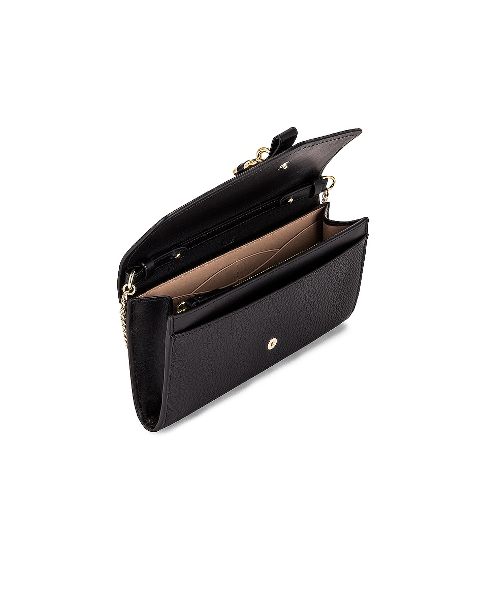 Image 5 of Chloe Aby Wallet on Chain Bag in Black