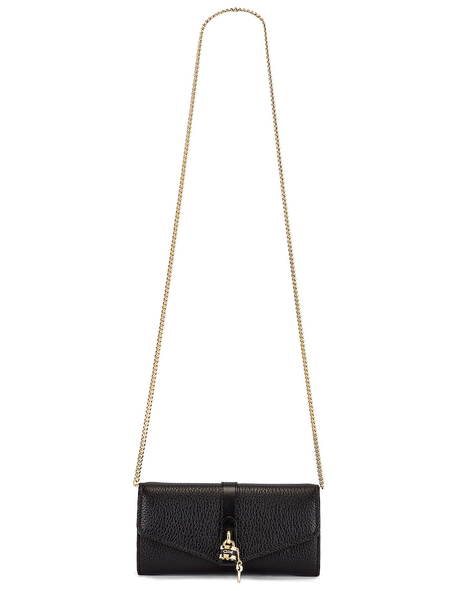Image 6 of Chloe Aby Wallet on Chain Bag in Black