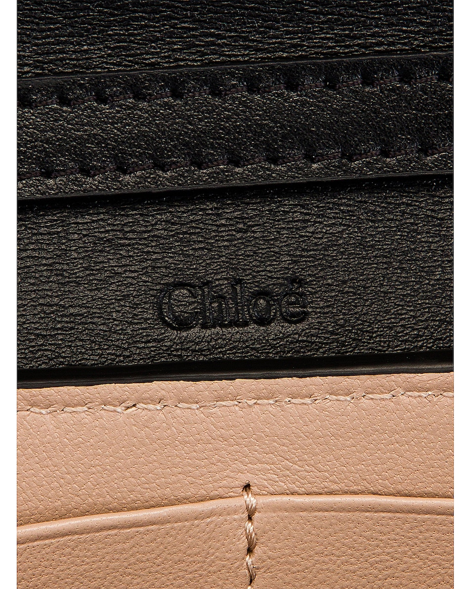 Image 7 of Chloe Aby Wallet on Chain Bag in Black