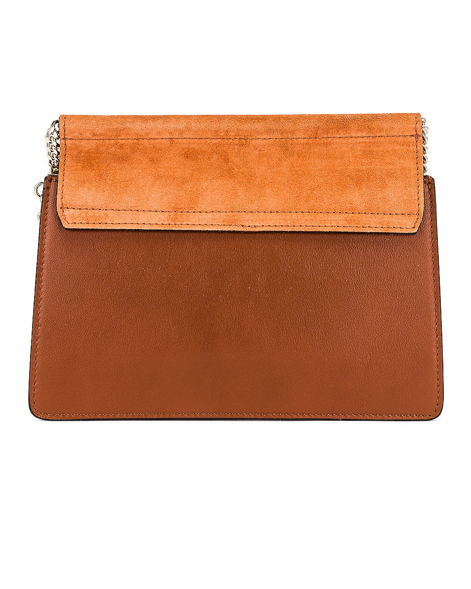 Image 3 of Chloe Mini Faye Shoulder Bag in Classic Tobacco