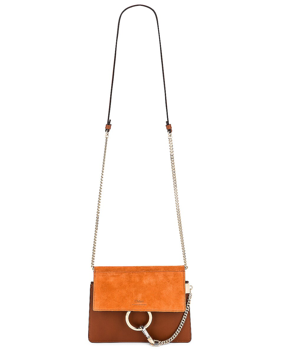 Image 6 of Chloe Mini Faye Shoulder Bag in Classic Tobacco