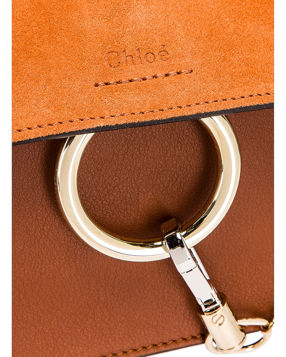 Image 8 of Chloe Mini Faye Shoulder Bag in Classic Tobacco