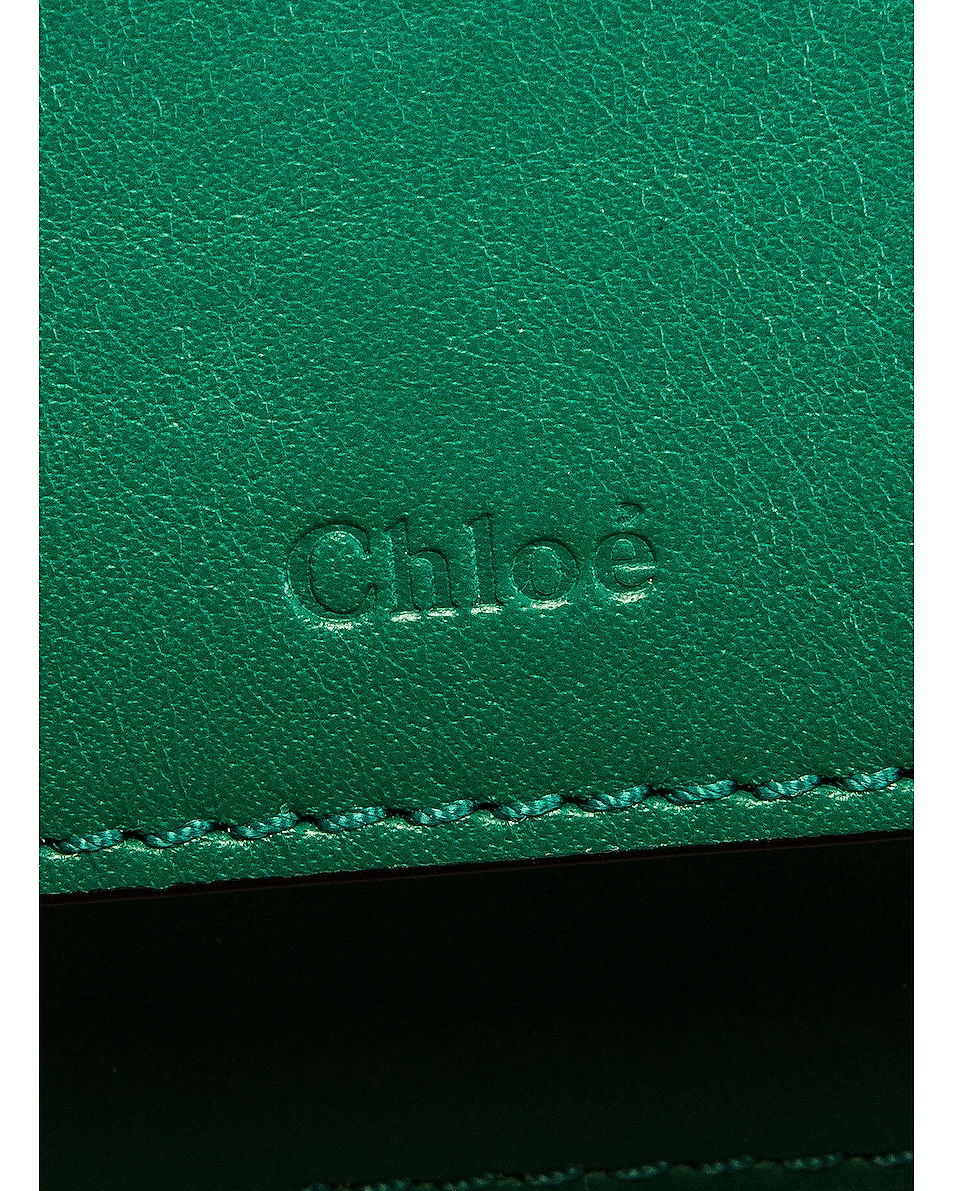 Image 7 of Chloe Mini C Embossed Croc Vanity Bag in Woodsy Green
