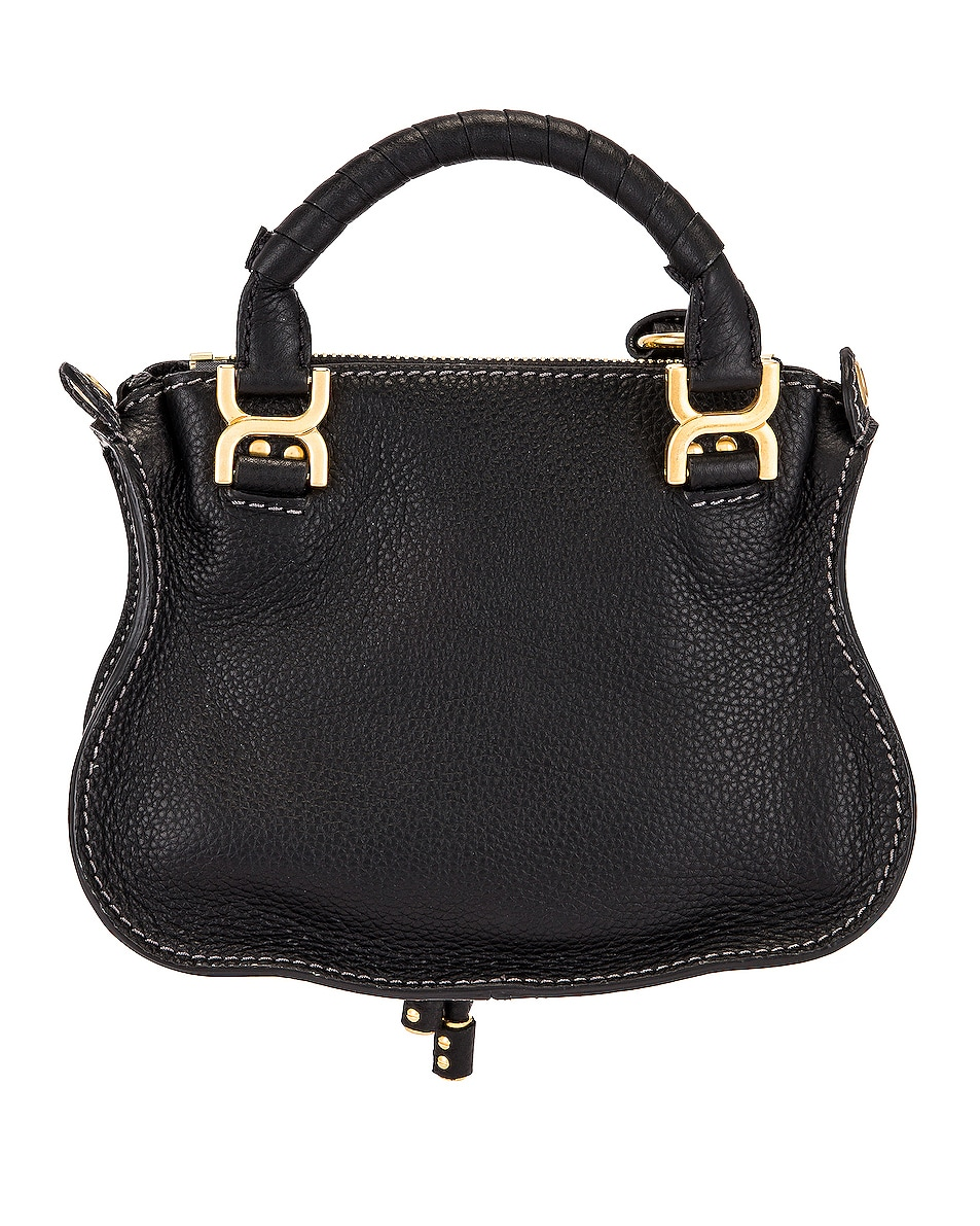 Image 3 of Chloe Mini Marcie Double Carry Bag in Black