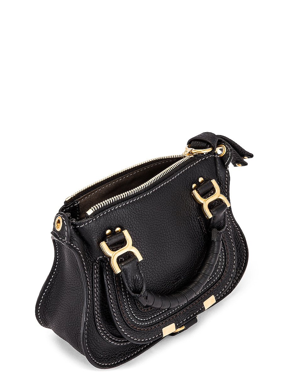Image 5 of Chloe Mini Marcie Double Carry Bag in Black