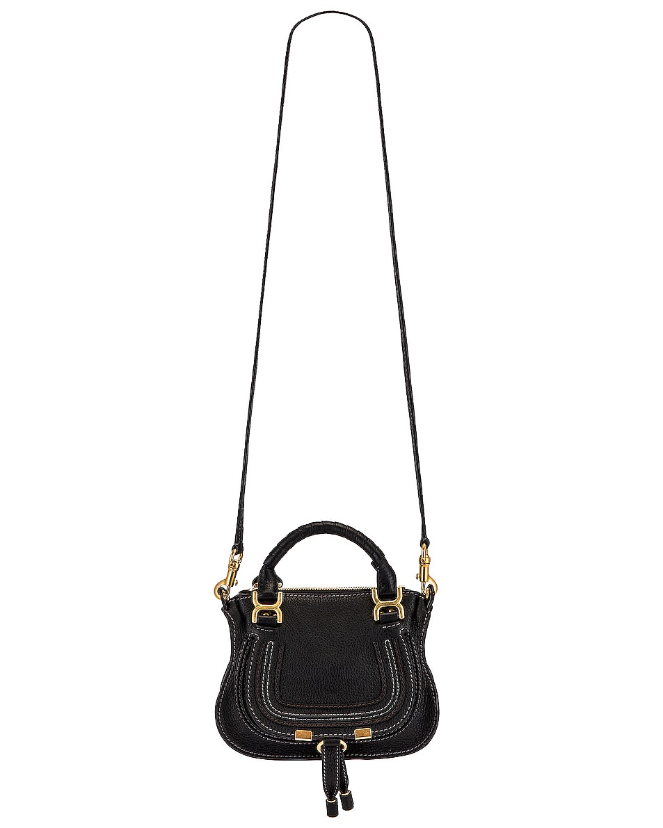 Image 6 of Chloe Mini Marcie Double Carry Bag in Black