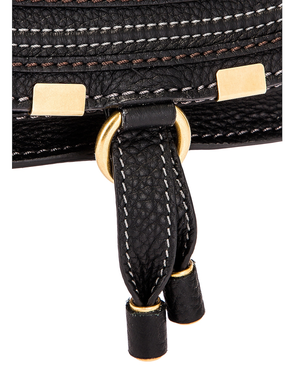 Image 8 of Chloe Mini Marcie Double Carry Bag in Black