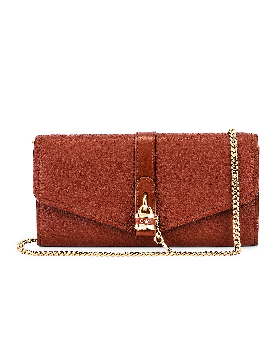 Image 1 of Chloe Aby Wallet on Chain Bag in Sepia Brown