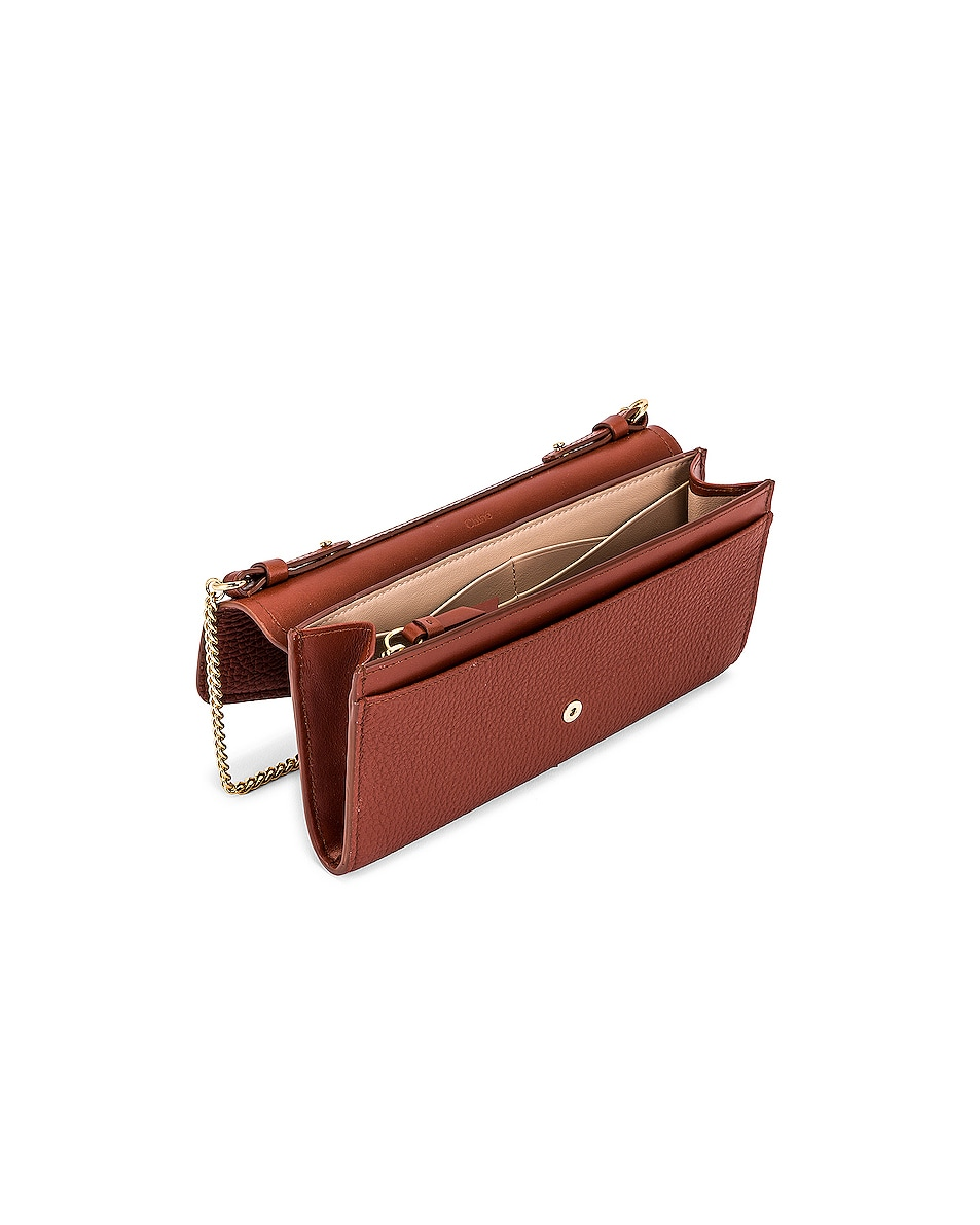 Image 5 of Chloe Aby Wallet on Chain Bag in Sepia Brown