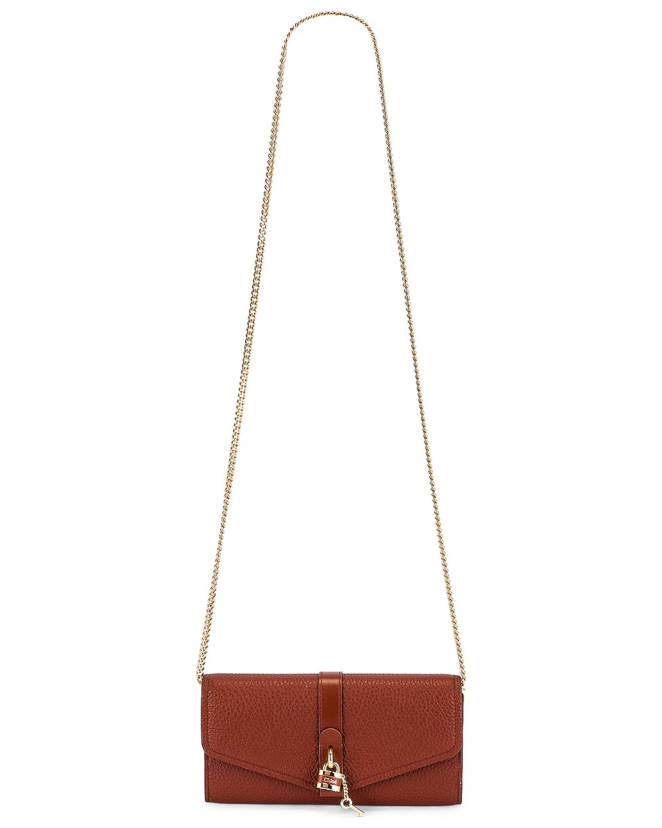 Image 6 of Chloe Aby Wallet on Chain Bag in Sepia Brown