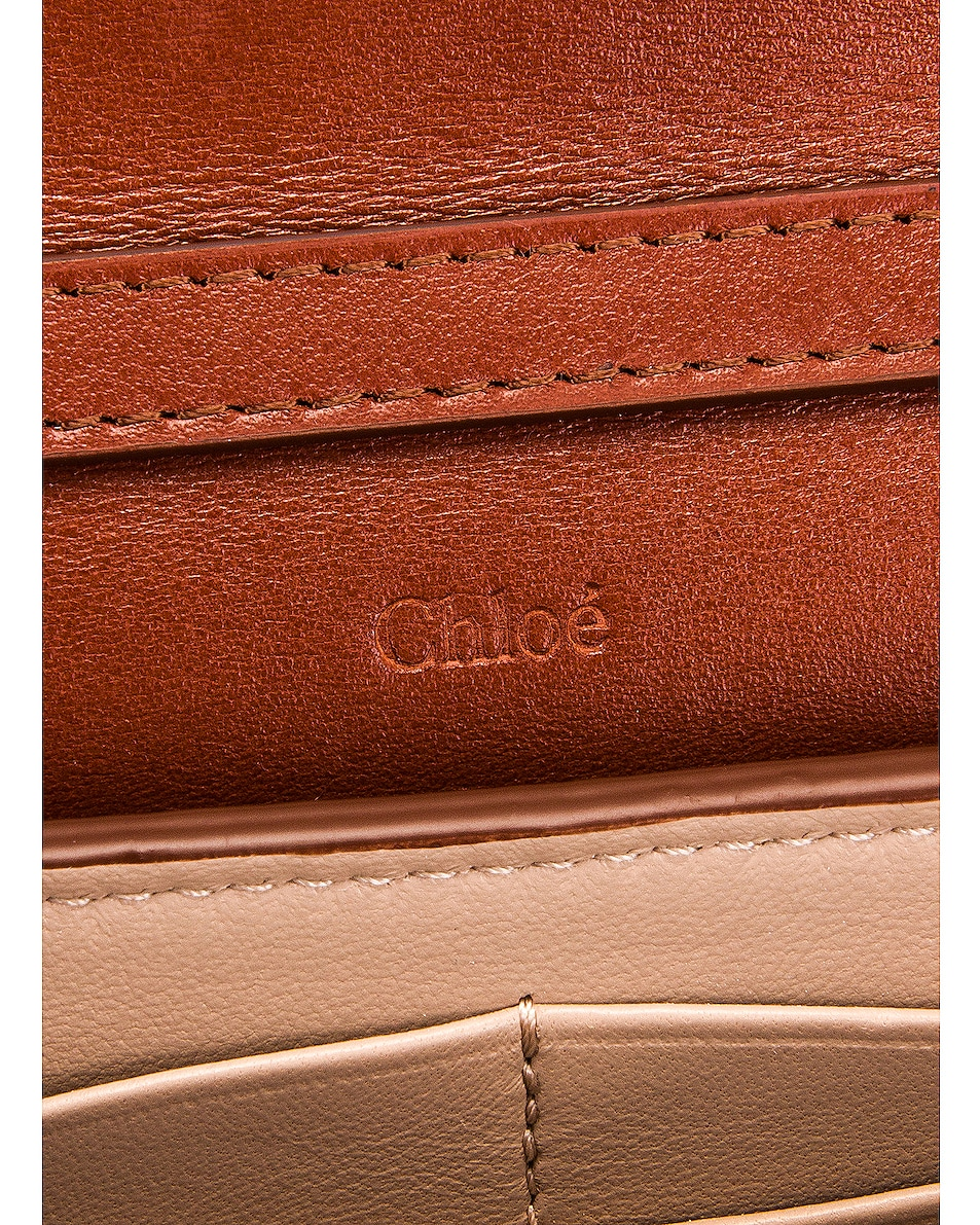 Image 7 of Chloe Aby Wallet on Chain Bag in Sepia Brown