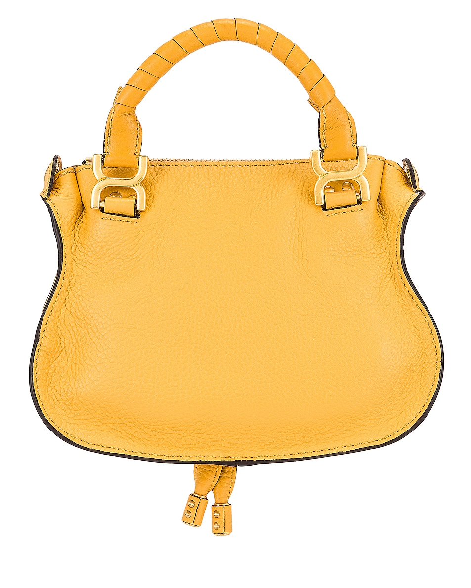 Image 3 of Chloe Mini Marcie Double Carry Bag in Honey Gold
