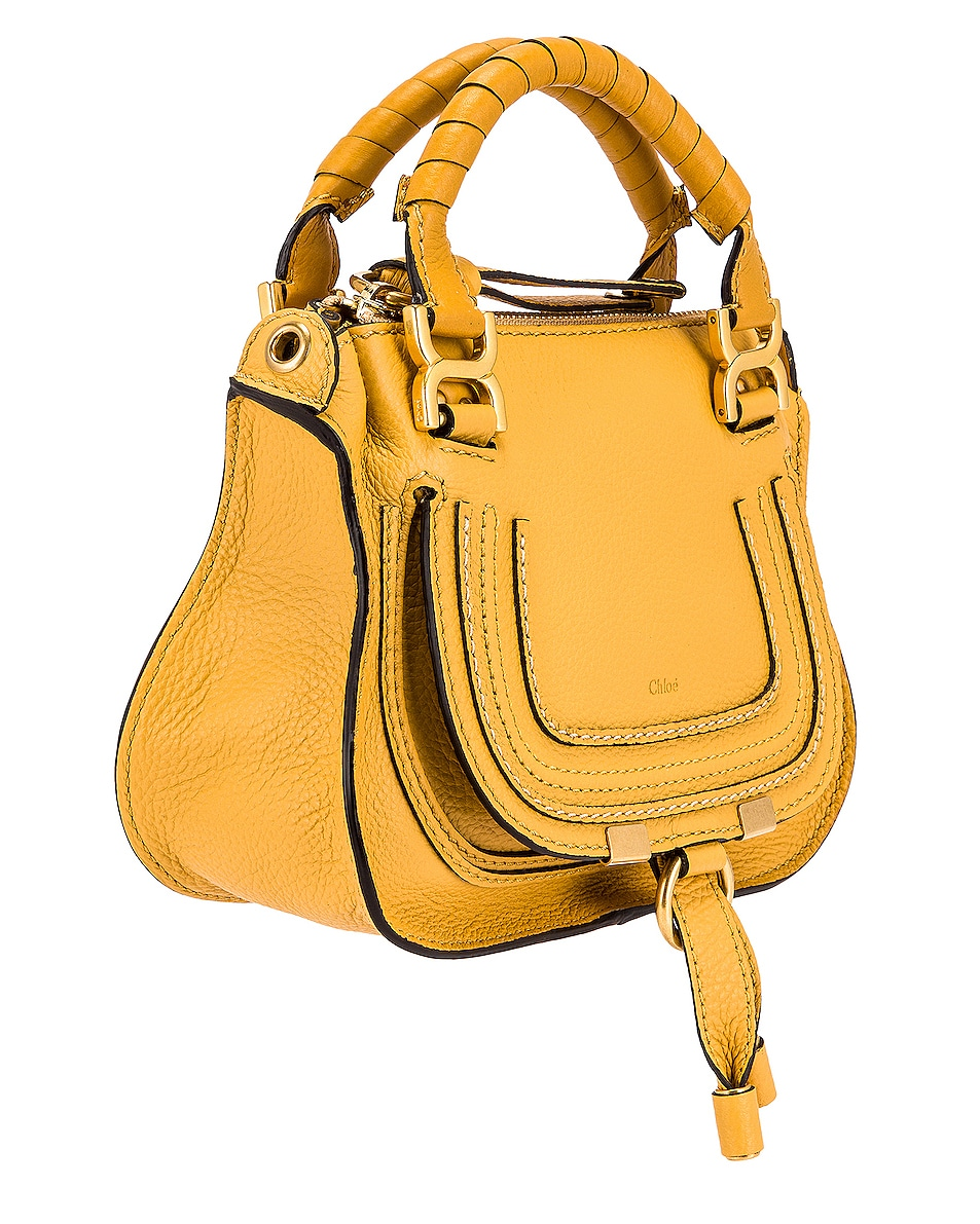 Image 4 of Chloe Mini Marcie Double Carry Bag in Honey Gold