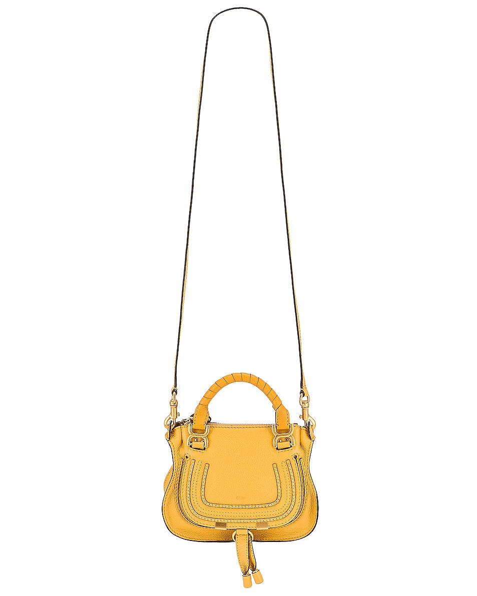 Image 6 of Chloe Mini Marcie Double Carry Bag in Honey Gold