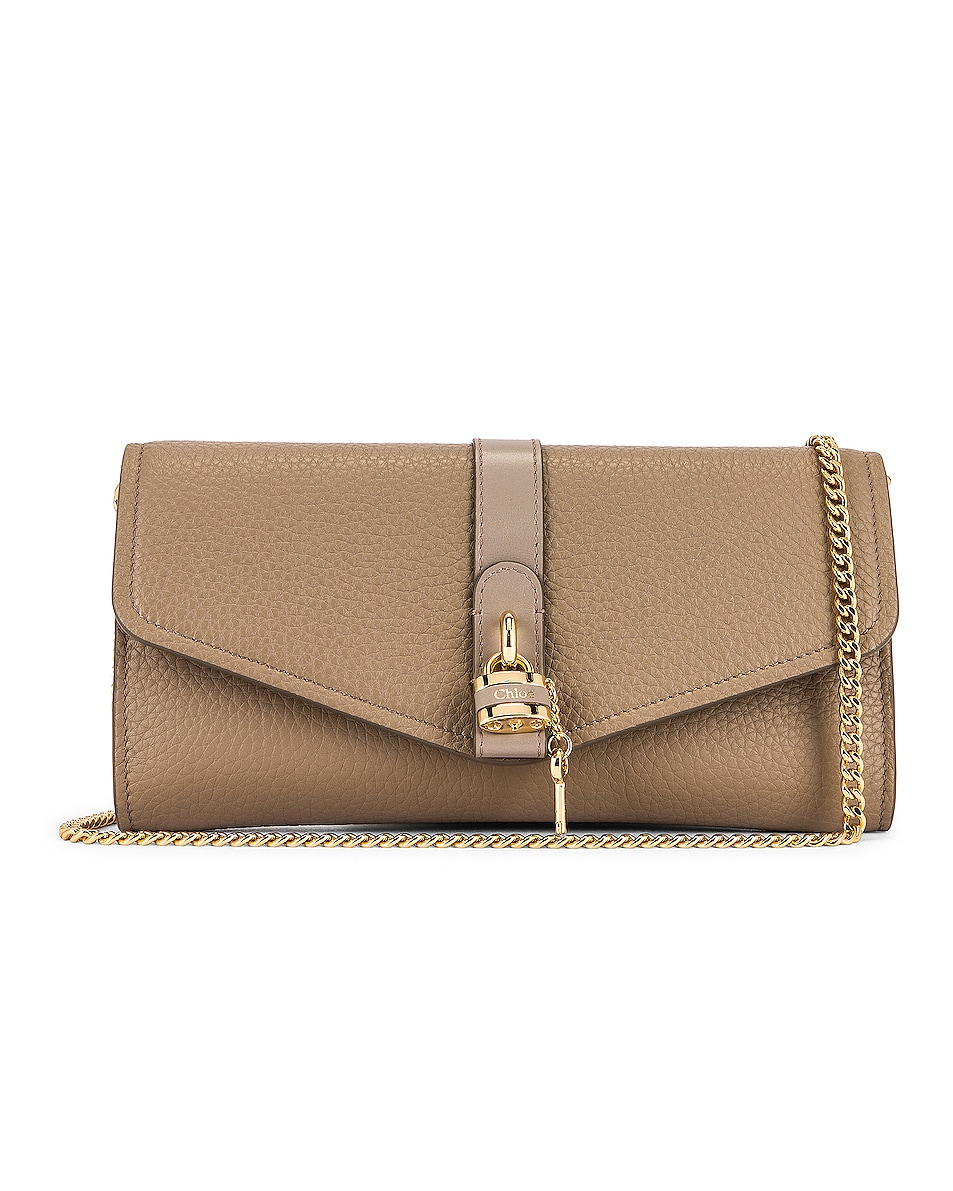 Image 1 of Chloe Aby Wallet on Chain Bag in Motty Grey