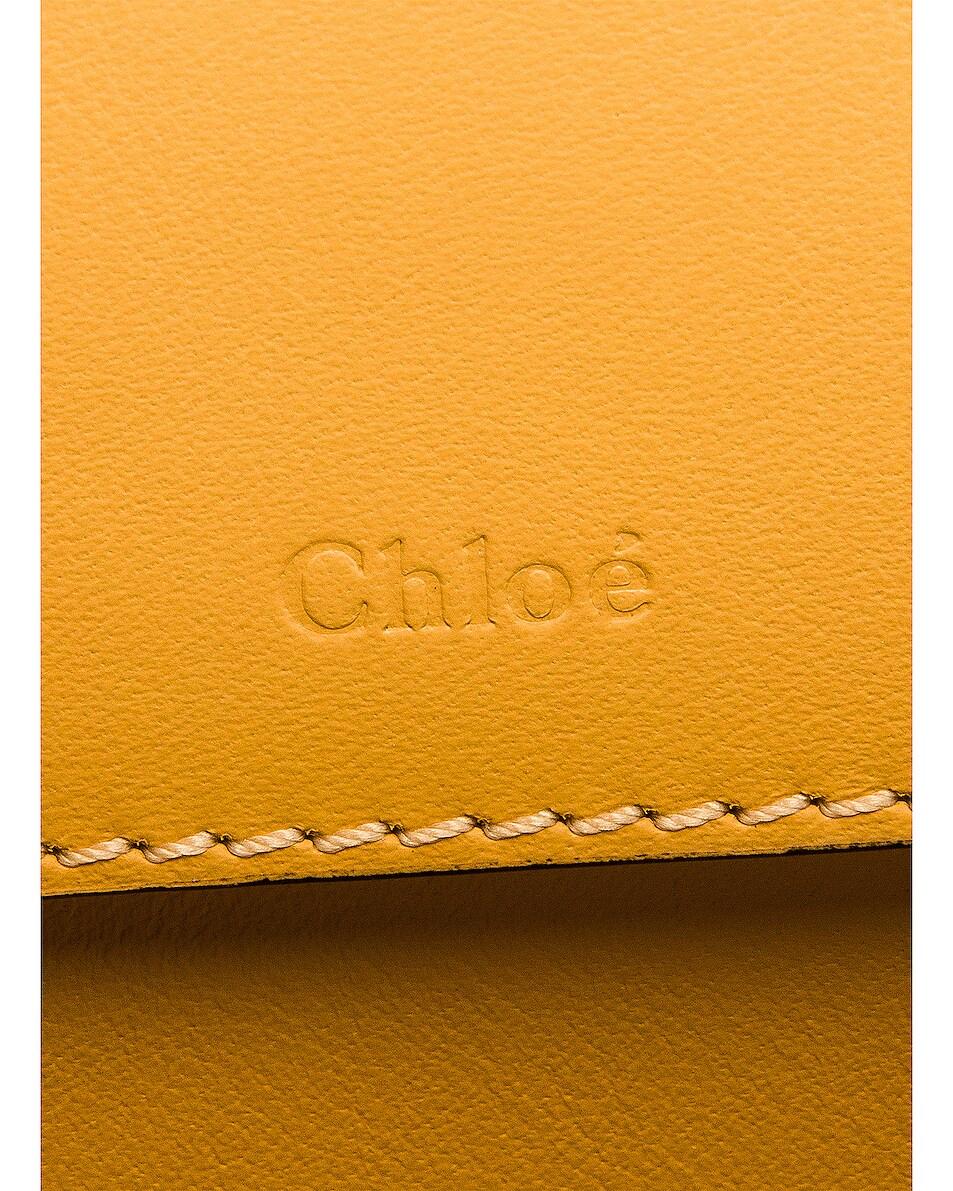 Image 7 of Chloe Mini Embossed Croc Vanity Bag in Honey Gold