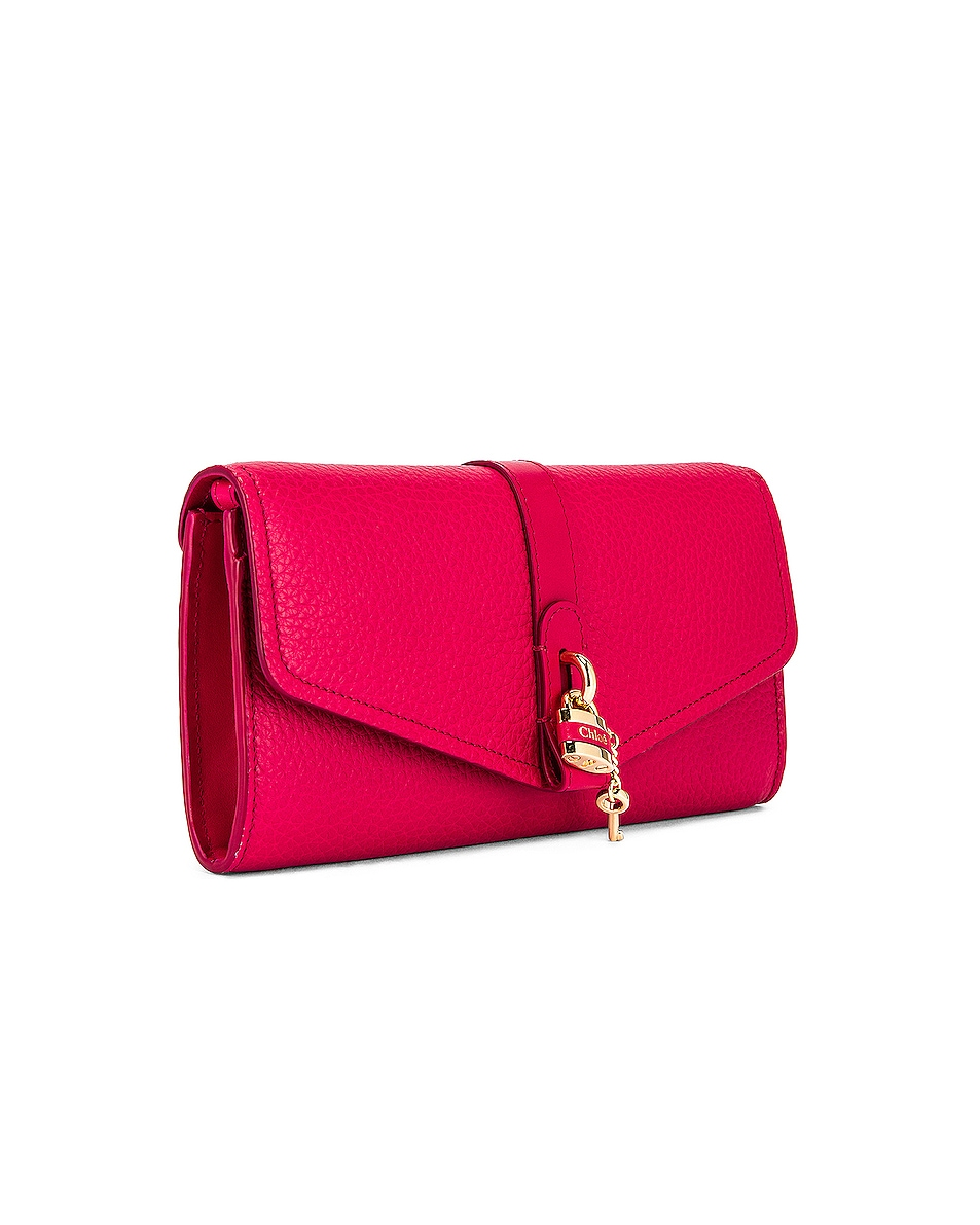 Image 4 of Chloe Aby Wallet on Chain Bag in Crimson Pink