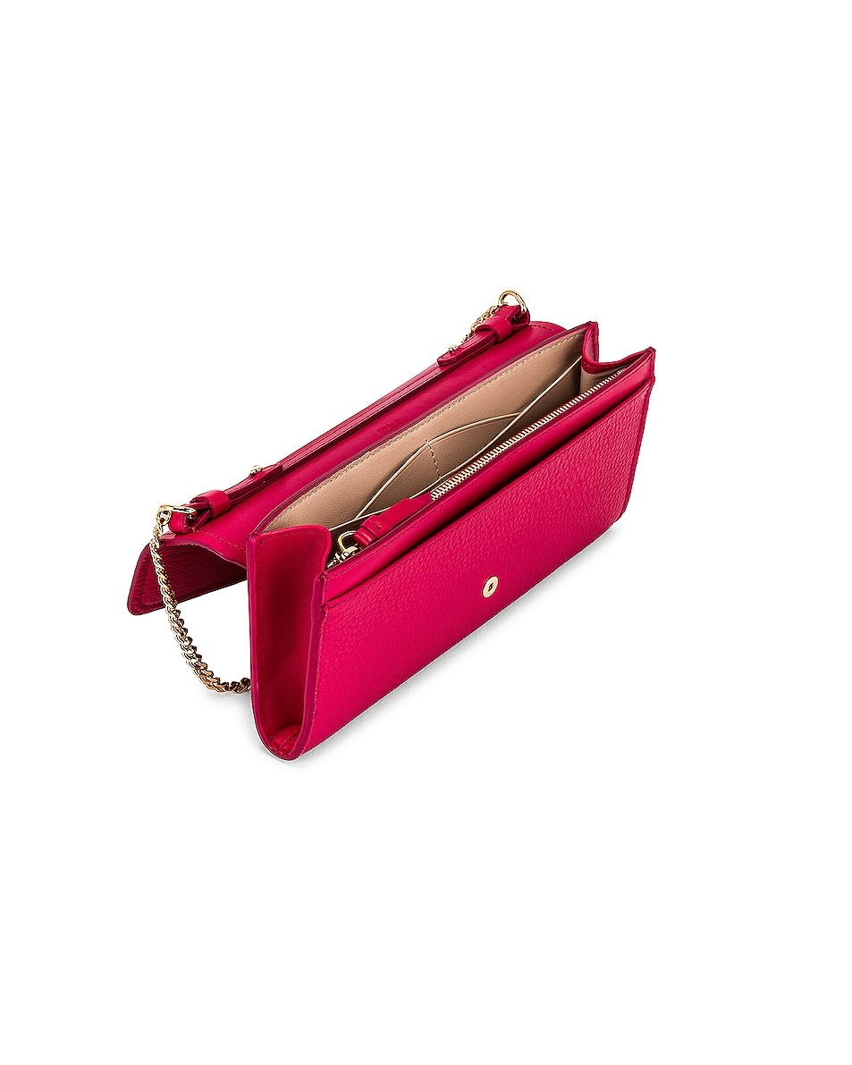 Image 5 of Chloe Aby Wallet on Chain Bag in Crimson Pink
