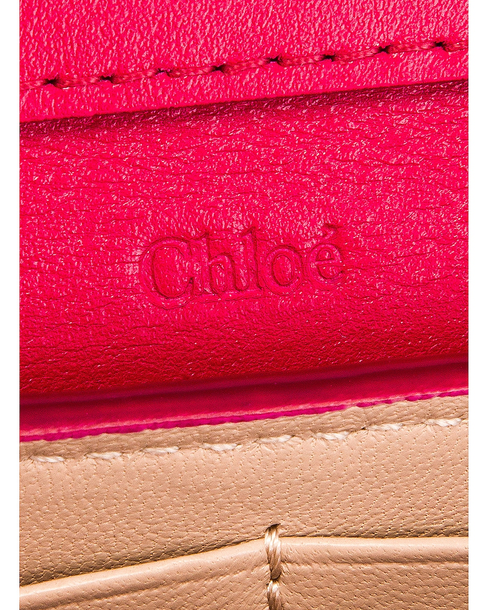 Image 7 of Chloe Aby Wallet on Chain Bag in Crimson Pink