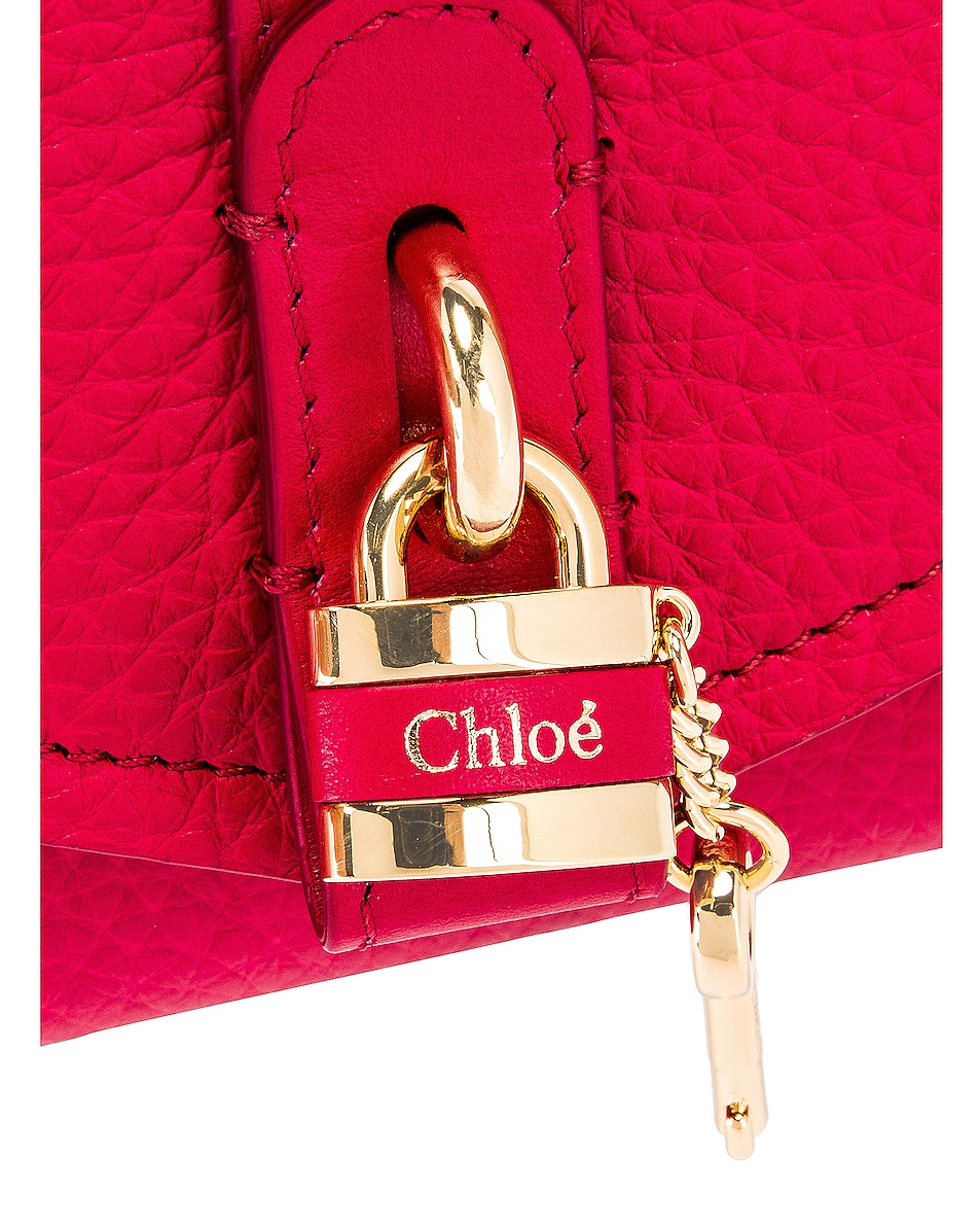 Image 8 of Chloe Aby Wallet on Chain Bag in Crimson Pink