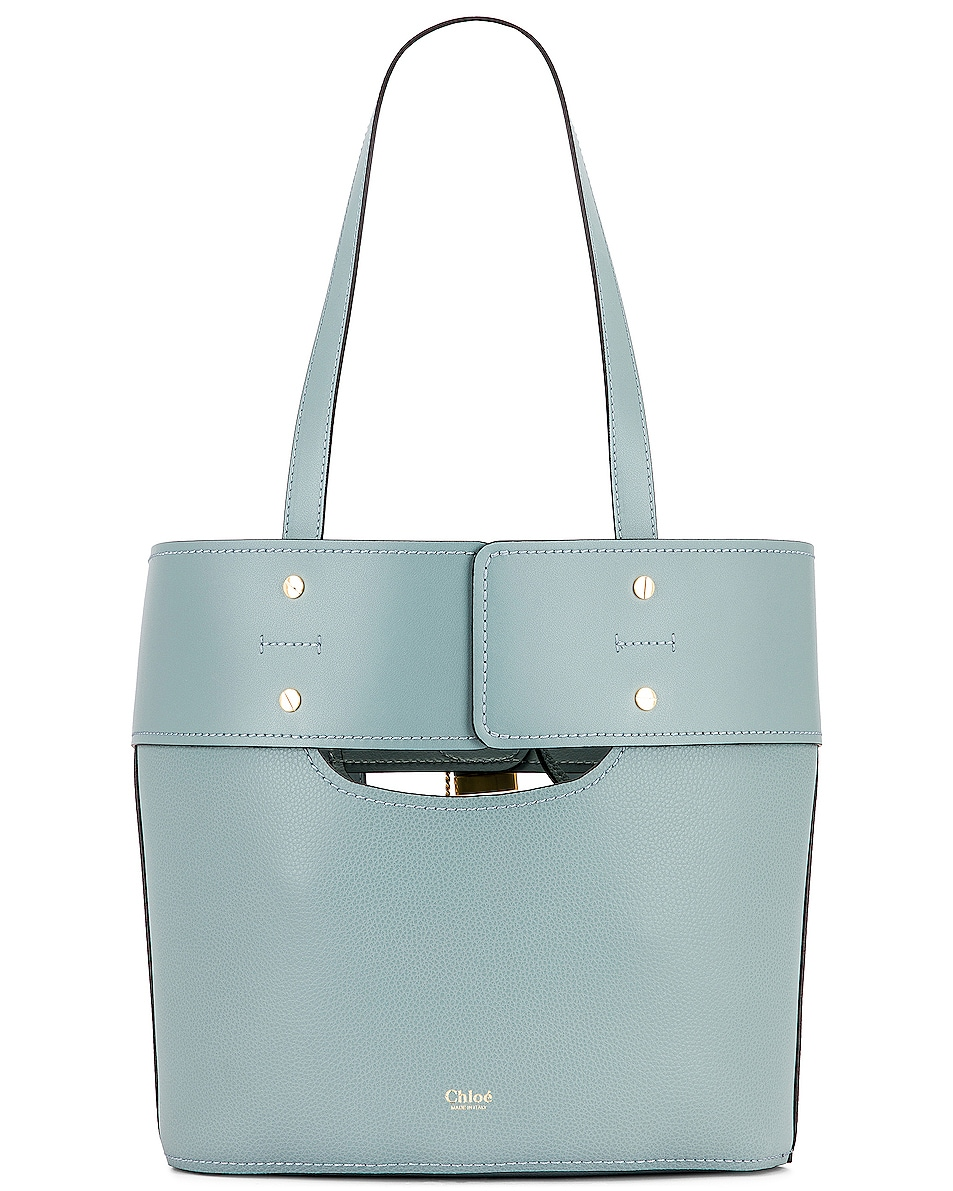 Image 3 of Chloe Small Aby Tote in Faded Blue