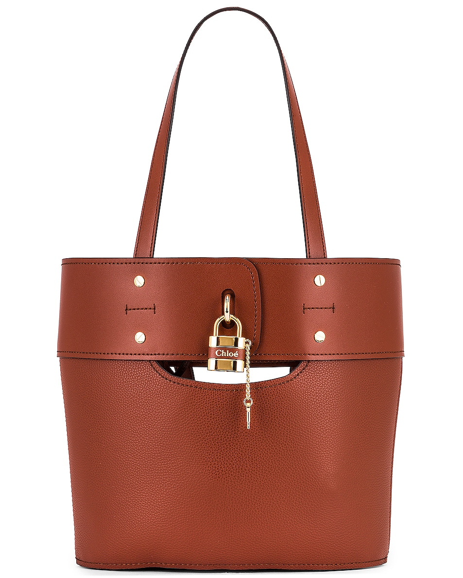 Image 1 of Chloe Small Aby Tote in Sepia Brown