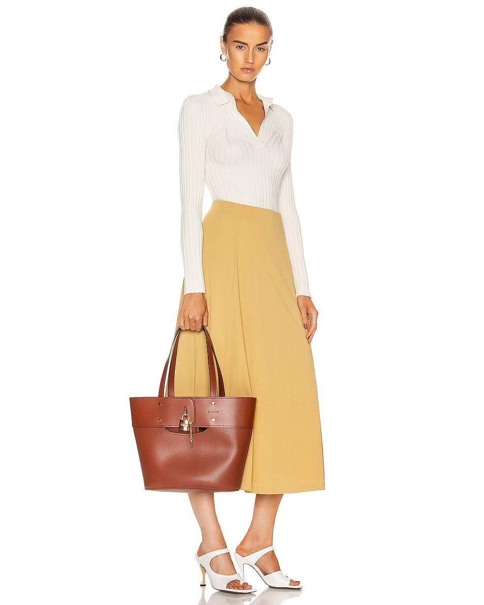 Image 2 of Chloe Small Aby Tote in Sepia Brown