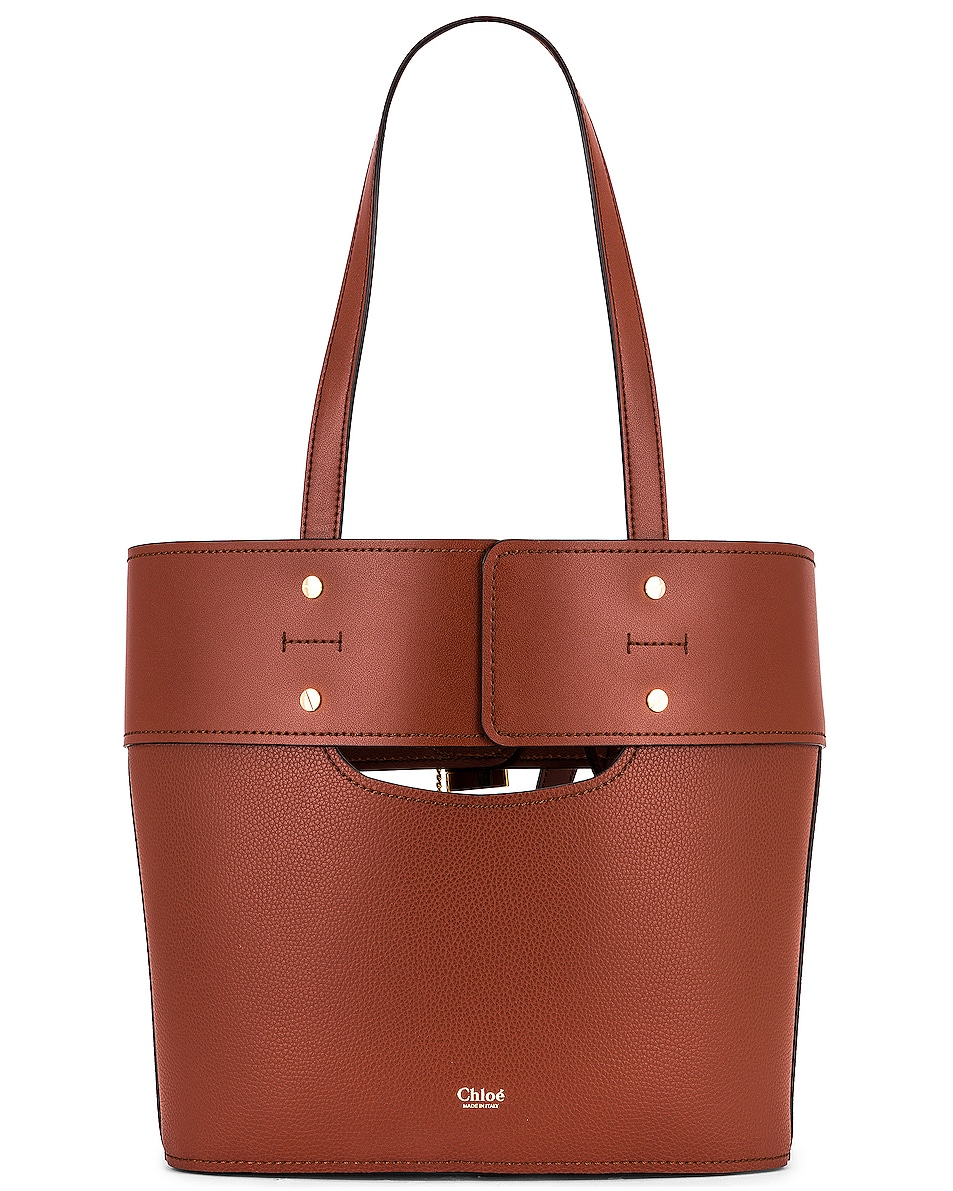 Image 3 of Chloe Small Aby Tote in Sepia Brown