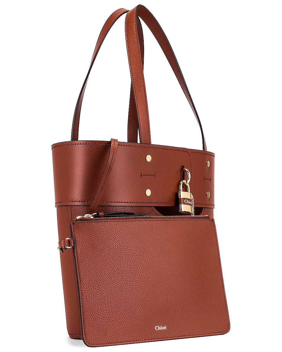 Image 4 of Chloe Small Aby Tote in Sepia Brown