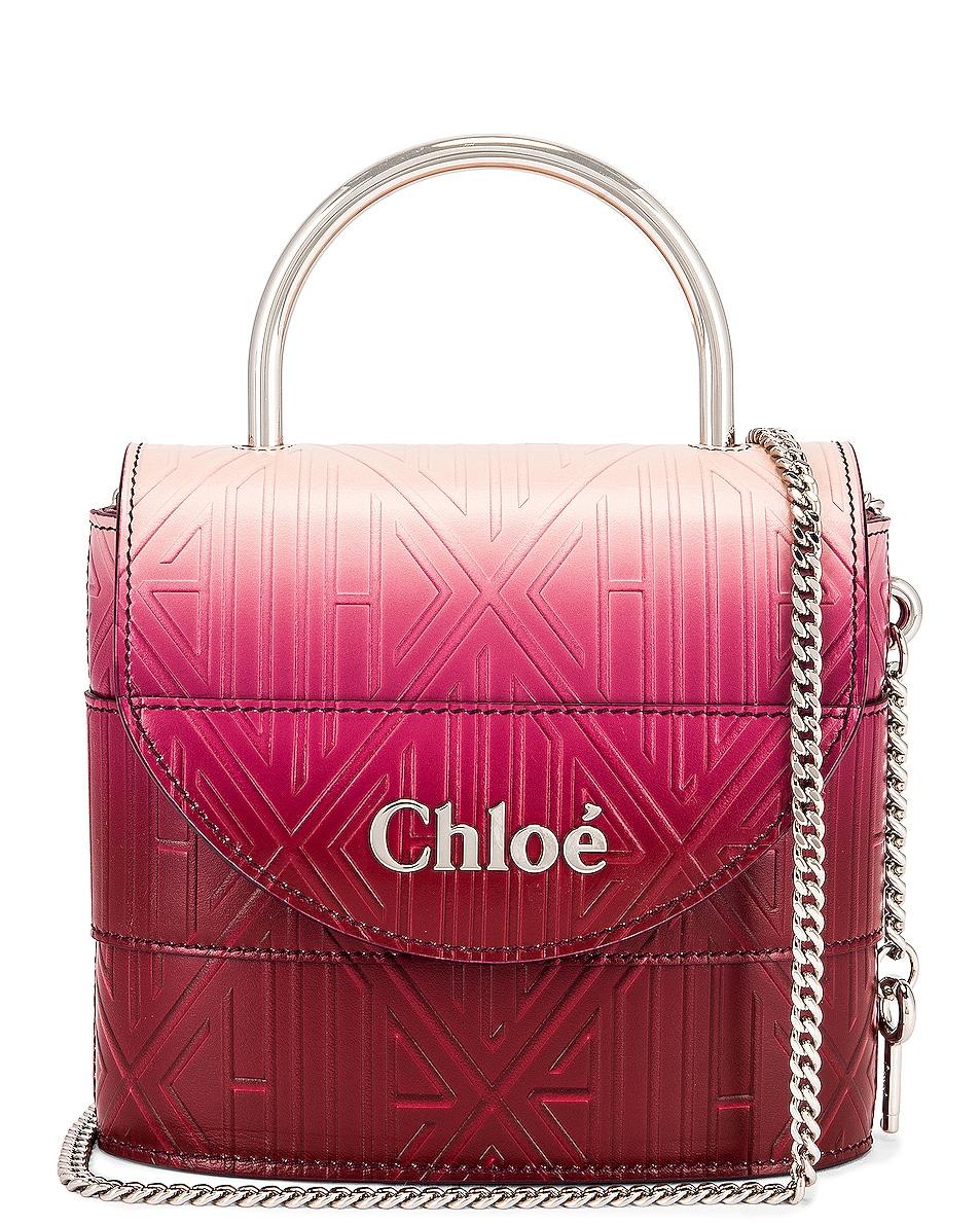 Image 1 of Chloe Abylock Embossed Monogram Ombre Crossbody Bag in Brown & Purple