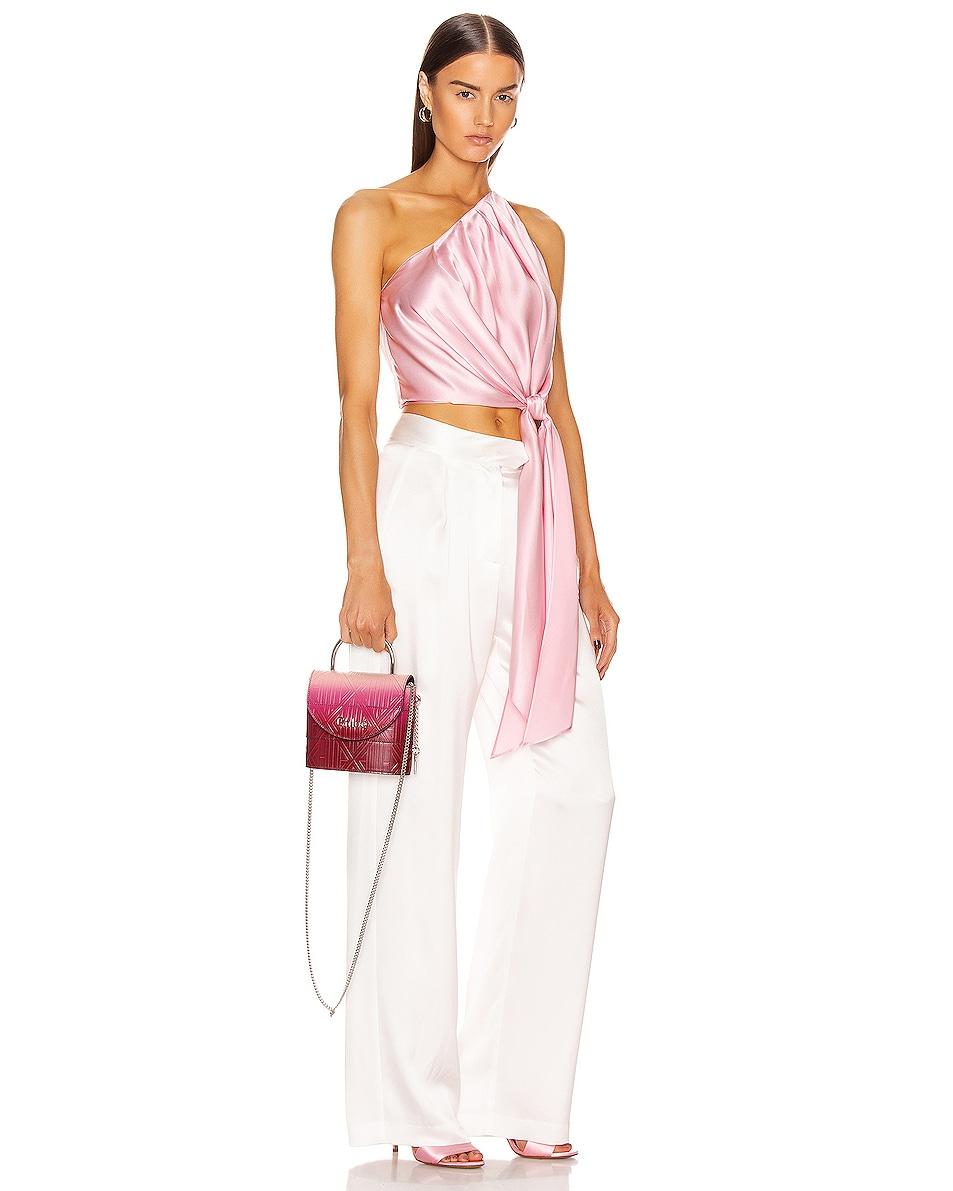 Image 2 of Chloe Abylock Embossed Monogram Ombre Crossbody Bag in Brown & Purple