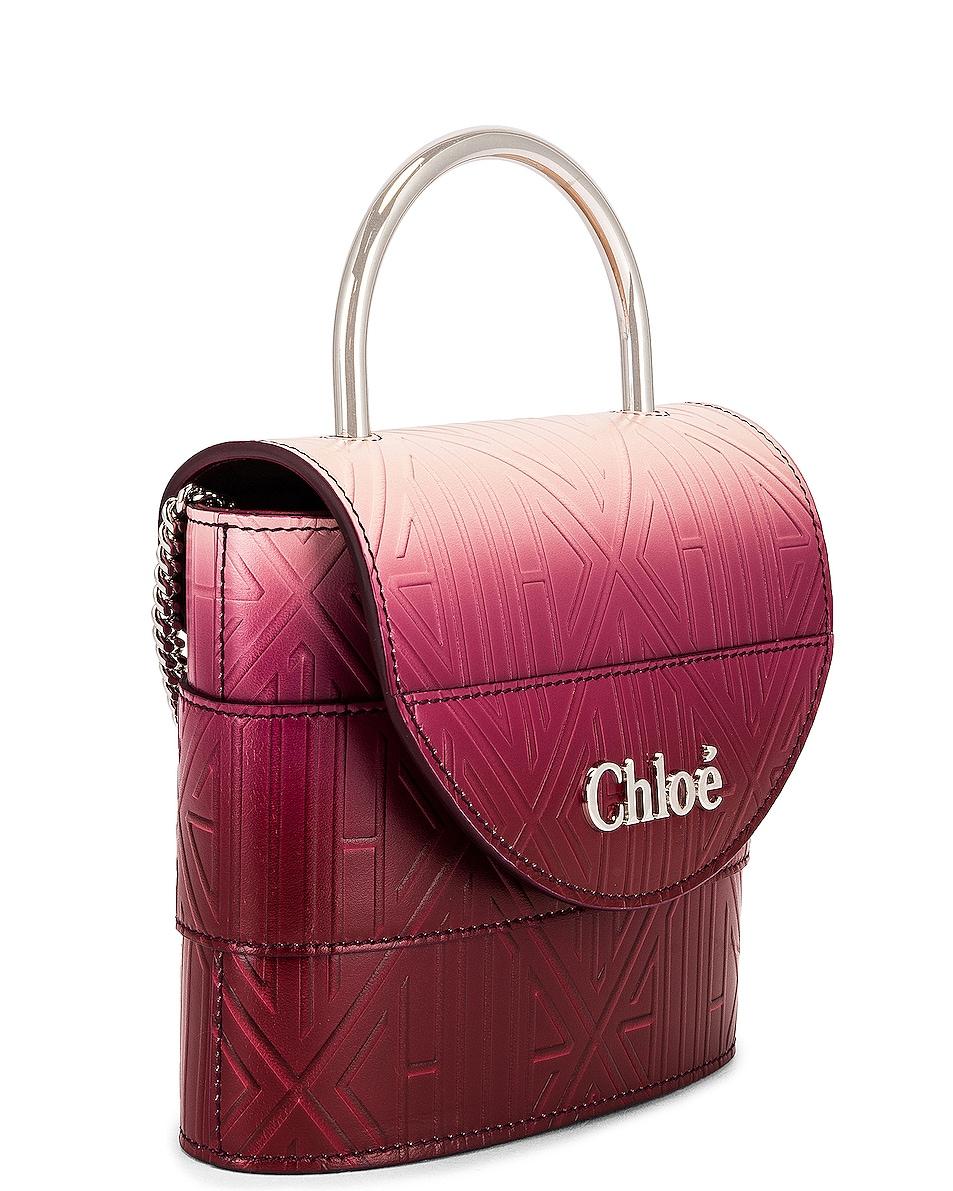 Image 4 of Chloe Abylock Embossed Monogram Ombre Crossbody Bag in Brown & Purple