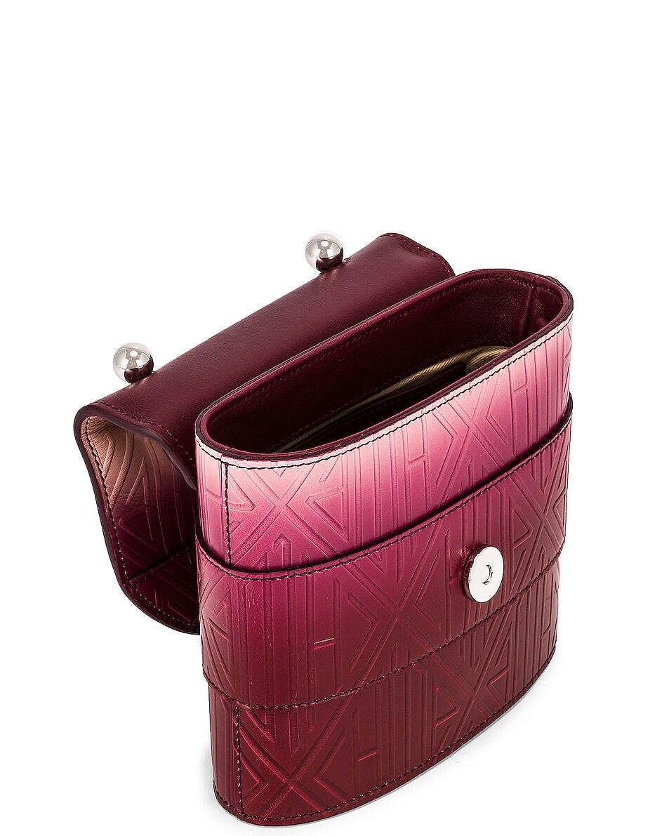 Image 5 of Chloe Abylock Embossed Monogram Ombre Crossbody Bag in Brown & Purple