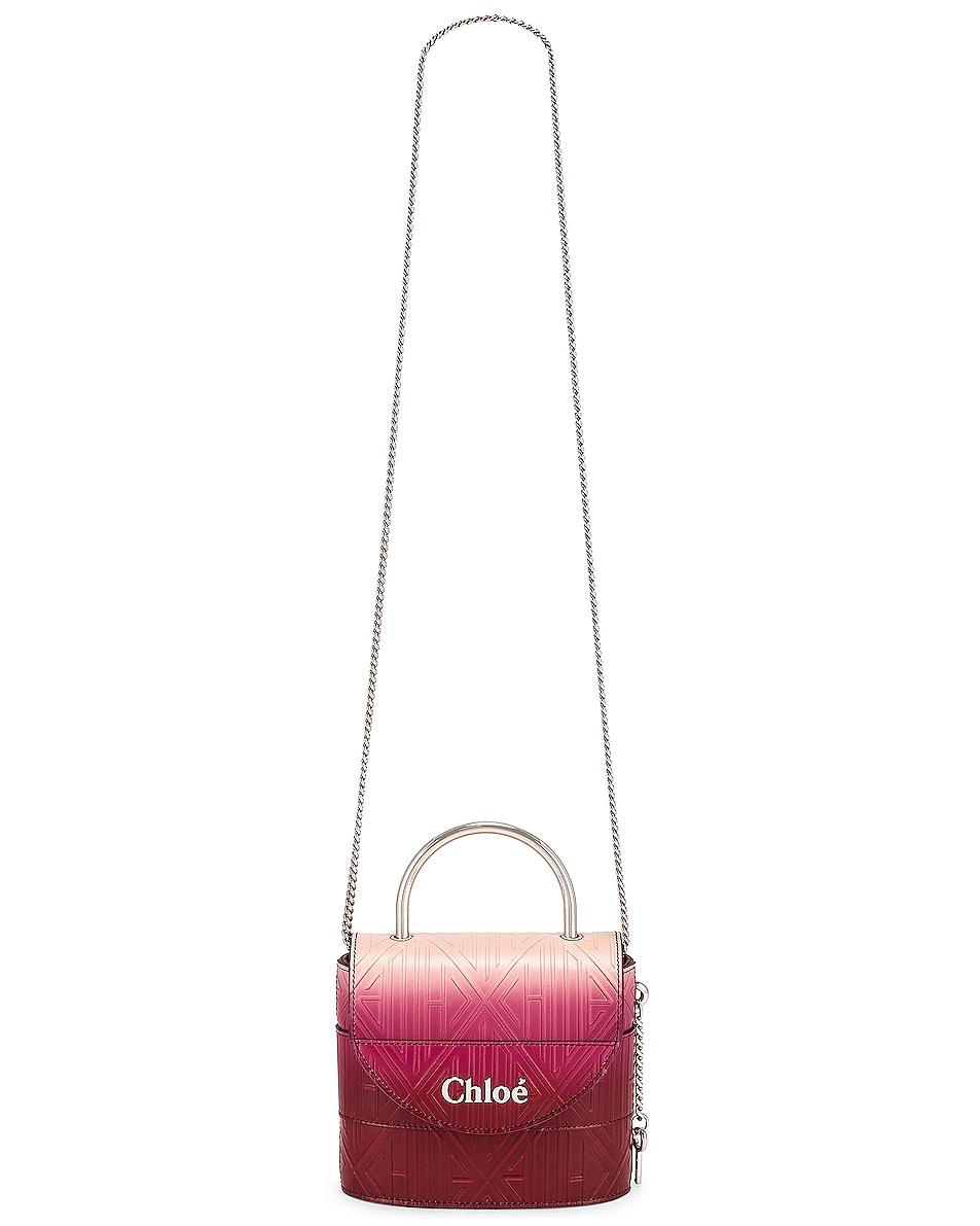 Image 6 of Chloe Abylock Embossed Monogram Ombre Crossbody Bag in Brown & Purple