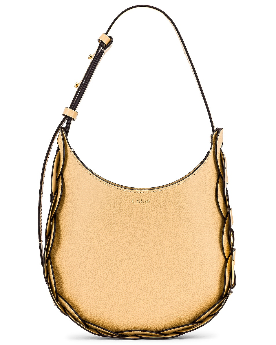 Image 1 of Chloe Small Darryl Leather Bag in Subtle Yellow