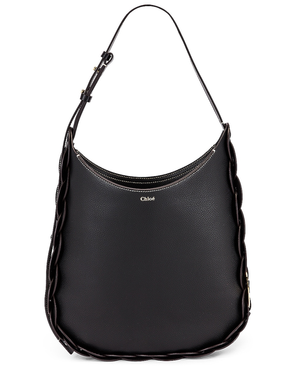 Image 1 of Chloe Medium Darryl Leather Bag in Black