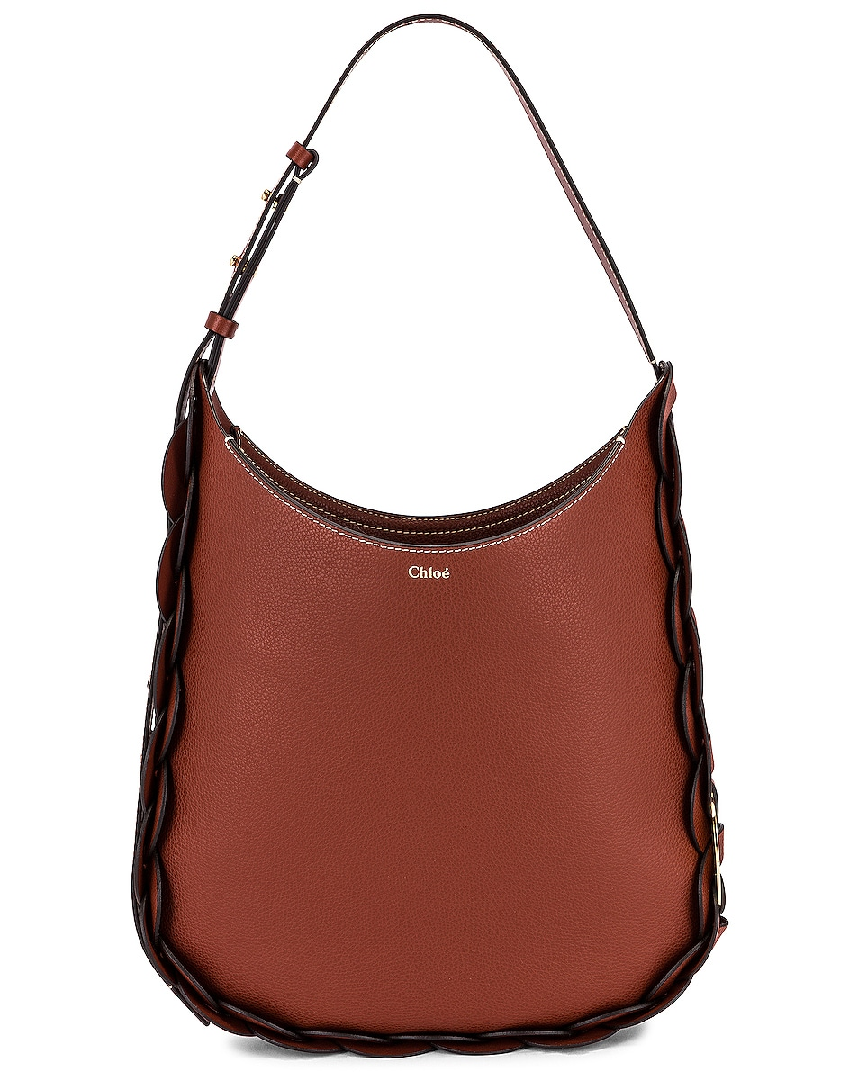 Image 1 of Chloe Medium Darryl Leather Bag in Sepia Brown