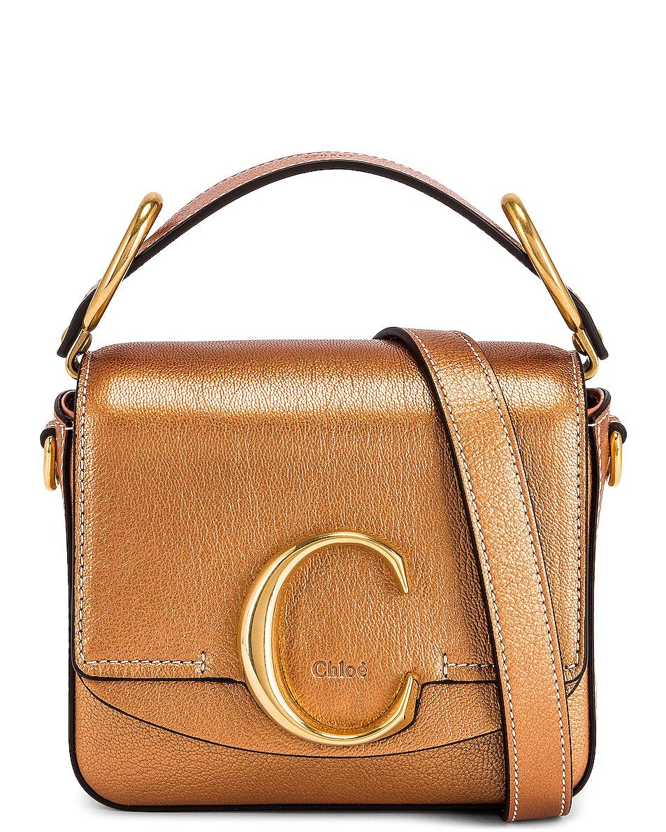 Image 1 of Chloe Mini Chloe C Pearl Square Bag in Rose Gold